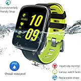 Waterproof Sports Smart Watch Phone Smartwatch, Touch Screen Bluetooth Fitness Tracker with Heart Rate Monitor Remote Camera Pedometer for iOS Android Cellphone (Lime Green)