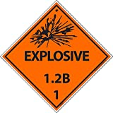 DL90ALV National Marker Dot Shipping Label, Explosive 1.2B, 1, 4 Inches x 4 Inches, Ps Vinyl, 500/Roll