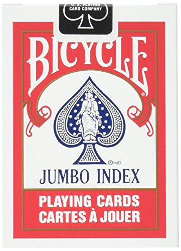 Bicycle Playing Cards Jumbo Index Deck Playing Card Game (Bicycle Clear Playing Cards)