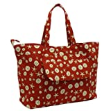 Quilted Cotton Overnight Bag - Beach Print