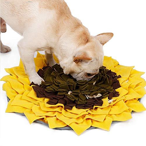 Pet Snuffle Mat Dog, Anti Slip Wooly Pet Feeding Snuffle Mats for Dog/Cat, Durable Stress Relief Dog Treat Mat, Small Medium Dog Training Nose Work Snuffles Blanket