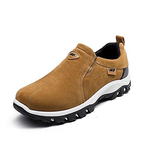 Facile Aller Faire Du Shopping En Plein Air Baskets Hommes Slip Talon Plat Chaussures De Sport Chaussures De Cricket Jaune