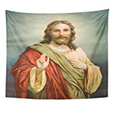 VaryHome Tapestry Slovakia March 18 2010 Copy of Typical Catholic Jesus Christ From End 19 Cent Originally By Painter Hans Home Decor Wall Hanging for Living Room Bedroom Dorm 50x60 Inches