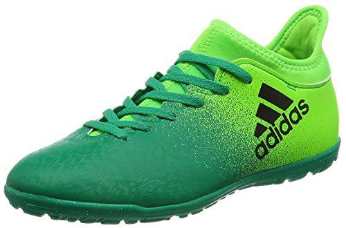 Black Green 3 16 Adidas bambini Solar da Tf calcio X core J per Scarpe SHxwOT