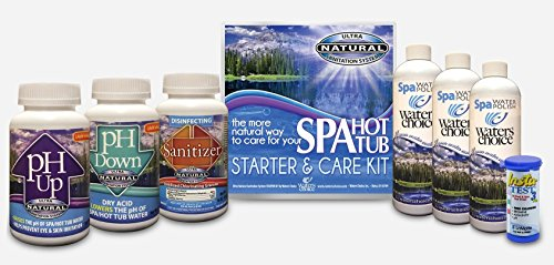 Spa Hot Tub Chemicals (Waters Choice Spa Start Up and Water Maintenance Kit 3 Month Supply)
