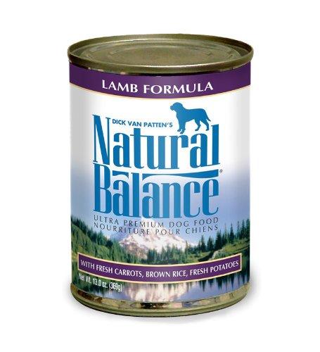 Natural Balance Lamb and Brown Rice Formula Dog Food (Pack of 12 13-Ounce Cans), My Pet Supplies