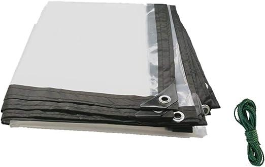 IDWOI Toldo - Lona Transparente Perforación del Bisel - Adecuado for balcón Jardín Impermeable y a Prueba de Polvo (Size : 4x4m): Amazon.es: Hogar