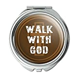 Walk With God Religious Christian Inspirational Compact Purse Mirror