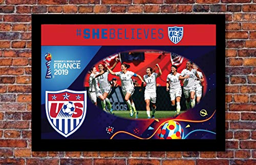 - 2019 Women's World Cup Soccer | Team USA Poster | 13 x 19 inches