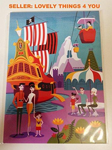 Disney Gallery Disneyland - NEW Disney WonderGround Gallery Exclusive Postcard by Shag