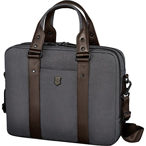 Victorinox Architecture Urban Bodmer 14 Laptop Briefcase, Grey/Brown, One Size by Victorinox