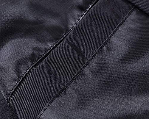 Botones Outwear con Cuello Deportiva Al Ropa Manga Los Libre Cremallera De Schwarz Hombres Bombardero De De Aire Chaquetas Alto Larga Ligero nOBHBxPTA