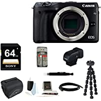 Canon EOS M3 Mirrorless Digital Camera (Body Only) + Canon EVF-DC1 Electronic Viewfinder + 64GB Bundle Key Pieces Review Image