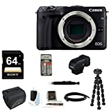 Canon EOS M3 Mirrorless Digital Camera (Body Only) + Canon EVF-DC1 Electronic Viewfinder + 64GB Bundle