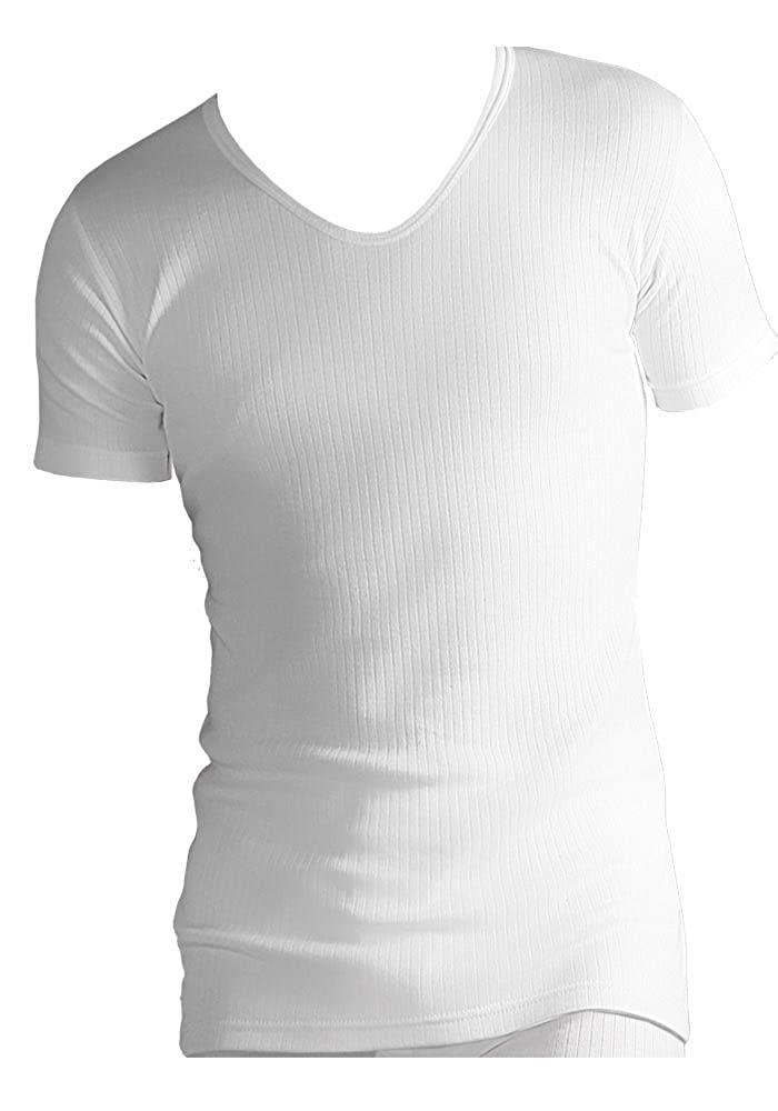1 no. Mens Heat Holders Thermal Underwear Short Sleeve V Neck Vest T Shirt 2 Colours 4 Sizes BTVHH