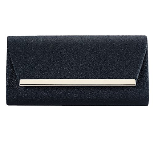 Ladies Black Envelope Fashion Wedding Handbag Clutch PU Women Evening Purse Cross Leather for Body Women HOq6Oxpw