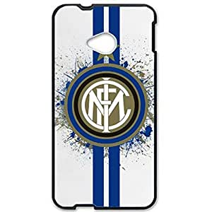 Inter Logo Phone Case for Htc one m7 3D Hard Black Plastic Cover