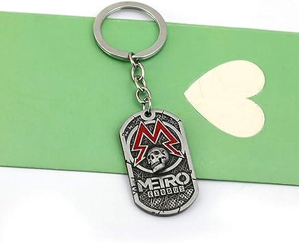 Juego Metro 2033 Llavero Hombres Metal Cuadrado Perro Etiqueta ...