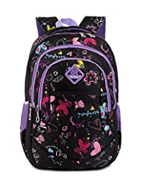 Tibes Waterproof Cute Backpack School Kids Girls Book Bag