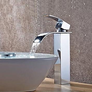 Beelee Chrome Brass Single Handle Basin Faucet Mixer Tap Waterfall ...
