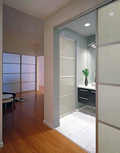Panel de pared adhesivo asepcto vidrio WallFace 18590 DECO SAHARA diseño textil tejido de lino salpicado color plata gris | 2,60 m2: Amazon.es: Bricolaje y ...