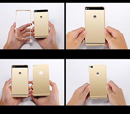 Para Galaxy Note 4 Carcasa Case Cover Sunroyal® Carcasa Samsung Galaxy Note 4 SM-N9100 Funda Aluminio carcasa Oro Metal Mirror Bumper phone case Hard Cover with Frame caja del teléfono Protectora cásc Color3