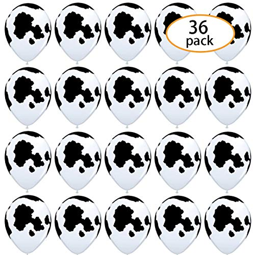 SBYURE 36 Pcs Funny Cow Print Latex Balloons 12