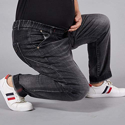 lannister In Coulisse Elasticizzati Qk Fit Denim Pantaloni Skinny Slim Con A Uomo Cargo Jeans Gamba Bermuda Ragazzo Dritta Nero Da dqUfwq