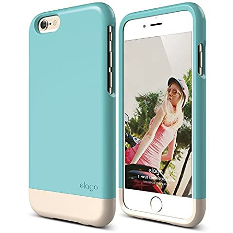 iPhone 6 Case, elago [Glide Limited-Edition][Coral Blue / Champagne Gold] - [Mix and Match][Premium Armor][True Fit] – for iPhone 6 (Phone Covers For Iphone 6 Elago)