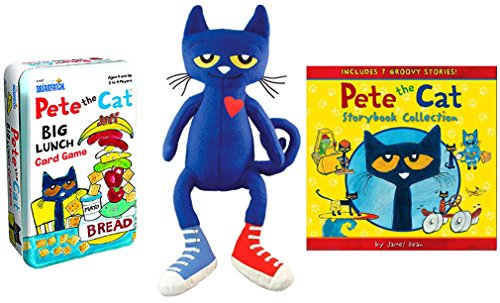 "Pete the Cat Storybook Collection Hardcover Book (7 Groovy Stories) & #1 Plush Doll (14.5"") Gift Set from Pete the Cat"
