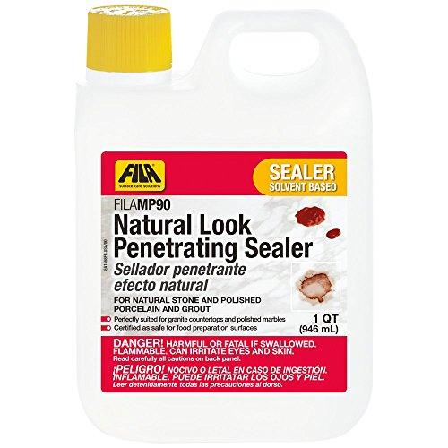 ealer MP90 1 QT. Sealer ideal for Granite Countertops, Natural Stone, Polished Porcelain and Marbles, Natural Look, Water Repellent. ()