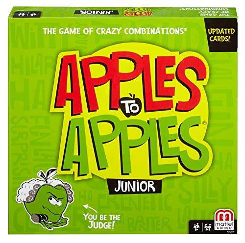 Mattel Games Apples to Apples Junior - The Game of Crazy Comparisons (Packaging May Vary) -