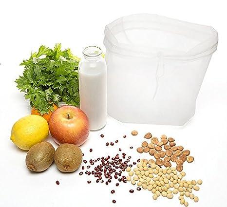 Compra Design61 nogal Leche Bolsa de 100% algodón toalla de filtro colador - Trapo para nogal Leche almendra Leche alternativas veganas a la leche y muchas ...