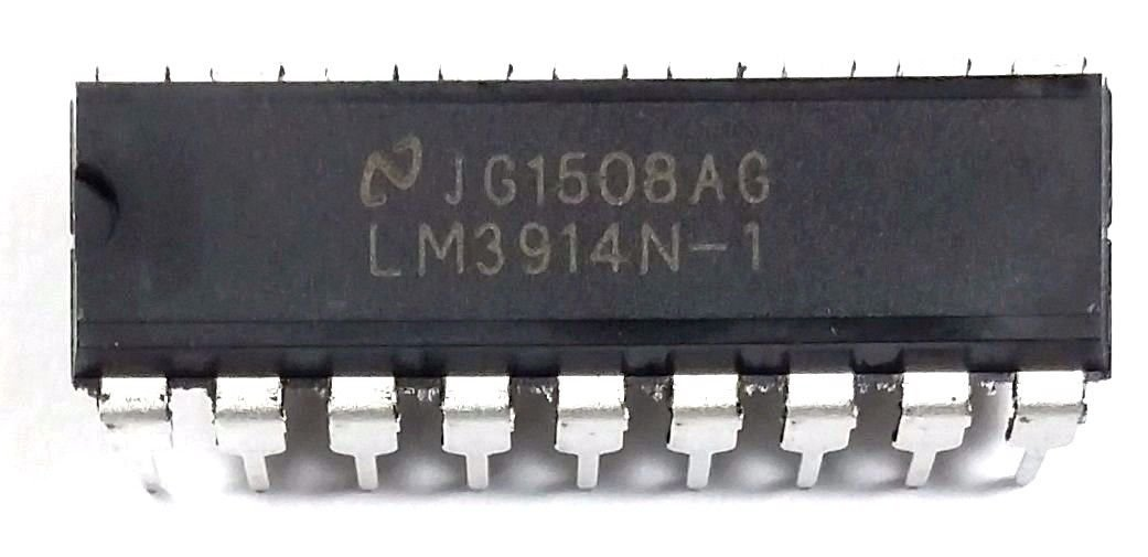 TEXAS INSTRUMENTS LM3914N-1/NOPB IC, DOT/BAR DISPLAY DRIVER, PDIP-18 (50 pieces)