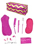 Pink & Gold Diva Necessities Set Travel Kit Modern Woman Survival Kit
