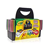 Crayola Colour Caddy, Art Supplies Kids, Travel Art Set, 90+ Pieces,  School and Craft Supplies, Gift for Boys and Girls, Kids, Ages 3,4, 5, 6 and Up, Holiday Toys, Arts and Crafts