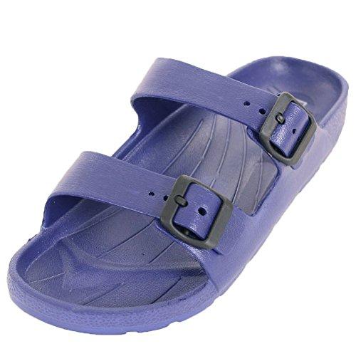 Lett Usa Menns Klassiske Dobbel Stropp Spenne Sandaler Blå