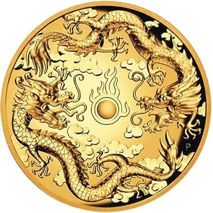 Power Coin Double Dragon 2 Oz Moneda Oro 200$ Australia 2019 ...