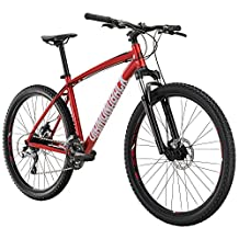 Diamondback Bicycles Overdrive Hardtail Mountain Bike with 27.5-Inch Wheels, 16-Inch/Small, Red