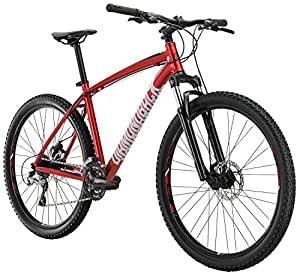 "Diamondback Bicycles Overdrive Hardtail Mountain Bike with 27.5"" Wheels, 22""/X-Large, Red"