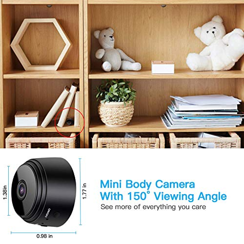 Spy Camera, Wireless Hidden WiFi Camera HD 1080P Mini Camera Portable Home Security Cameras Covert Nanny Cam Small Indoor Video Recorder Motion Activated/Night Vision Remote Monitor Phone App