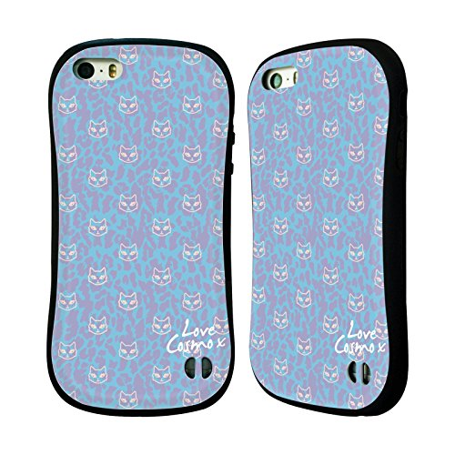 Official Cosmopolitan Leopard And Cats Totally 80S Hybrid Case for Apple iPhone 5 / 5s / SE