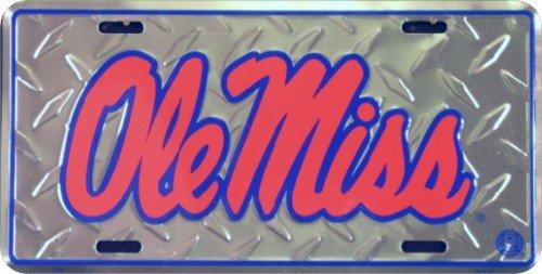 Ole Miss Diamond License Plate Tin Sign 6 x ()