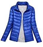 ARRIVE GUIDE Womens Winter Packable Ultra Light Jacket Down Puffer Parka Jewelry Blue XXL
