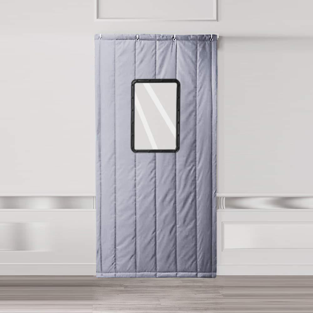 Nclon Warme Winter tür Vorhang,Kalt Windschutz partition Vorhang,Schalldichte Nicht verblassendes Haushalt Tor schule-220x120cm(87x47inch)