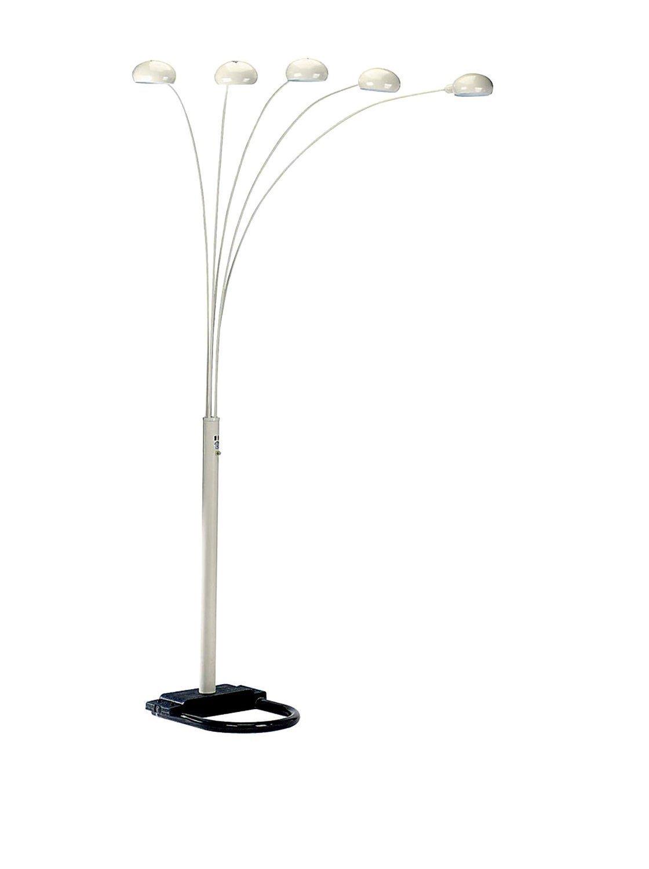 [メジャーキュー]Major-Q Modern Arms Arch Floor Lamp + LED Sensor Night Light Combo 6962wh+NL [並行輸入品] B01KLUYYGE 5 Arms white 5 Arms white