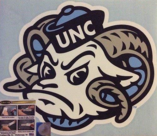 Craftique UNC North Carolina Tar Heels, Premium Large Die Cut Vinyl Decal, Cornhole Board Auto