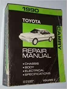 1990 toyota camry repair manual chassis body electrical specifications volume 2 toyota. Black Bedroom Furniture Sets. Home Design Ideas