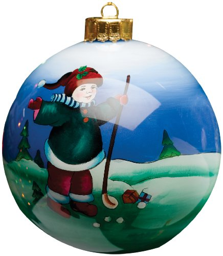 Golf Gifts & Gallery Clubhouse Collection Glass Child Golfer Ornament