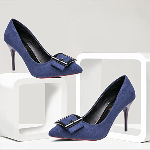 WHL Shoes Chaussures À Talons Hauts Sandales À Pointe De Lumière Metal Fonctionnent Très Bien Avec De Confortables Et Polyvalents Green metal buckle cNF6w7pprC
